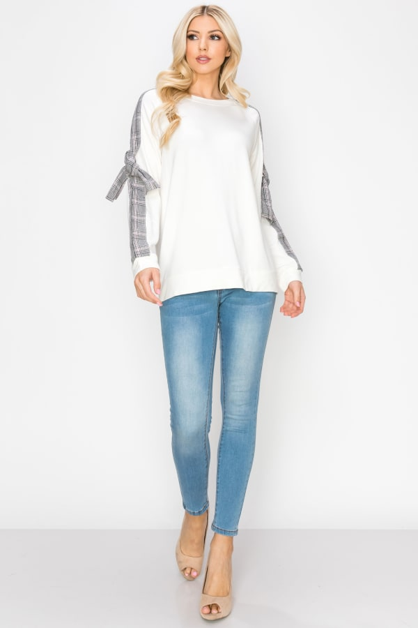 Rebecca Knit Top - Off-White - Front