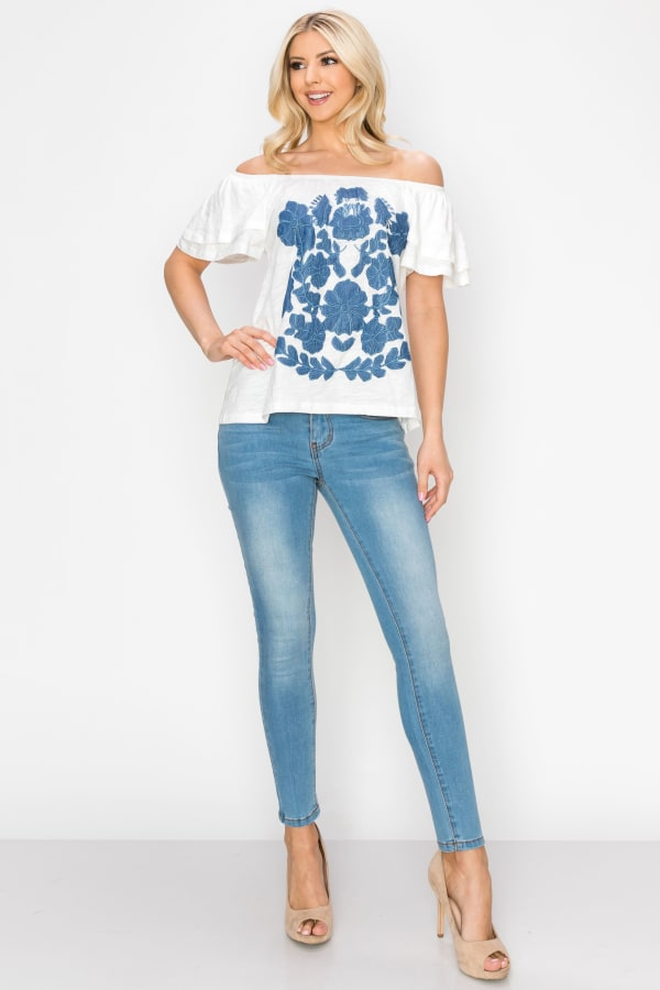Jayla Embroidered Top - As Is - Front
