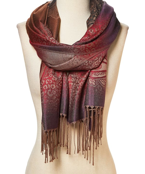 Abstract Acrylic Stole Scarf