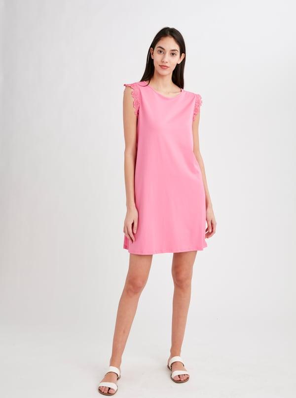 Stella Parker Charlotte Swing Dress - Pink Carnation - Front