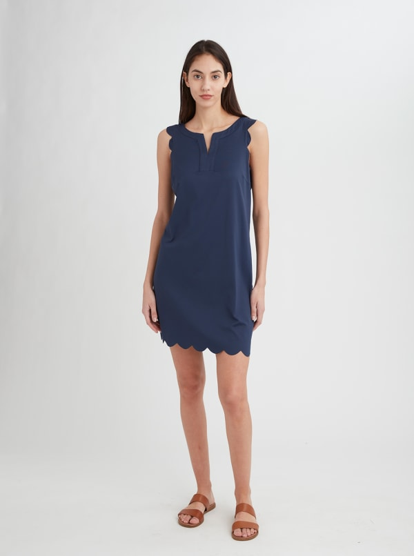 Stella Parker Bryanna Scallop Notch Neck Dress