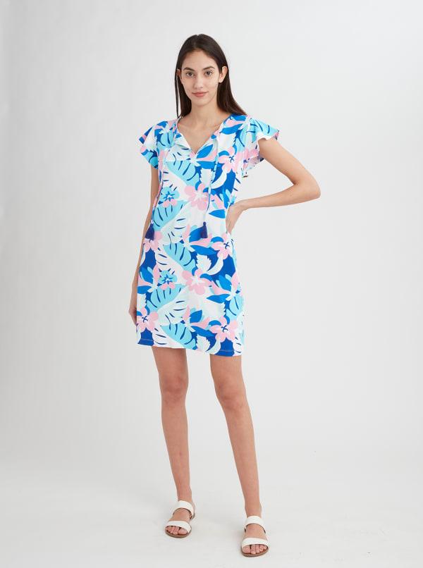 Stella Parker Sasha Ruffle Sleeve Tassel Dress