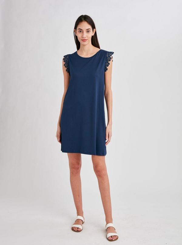 Stella Parker Charlotte Swing Dress - Dress Blues - Front