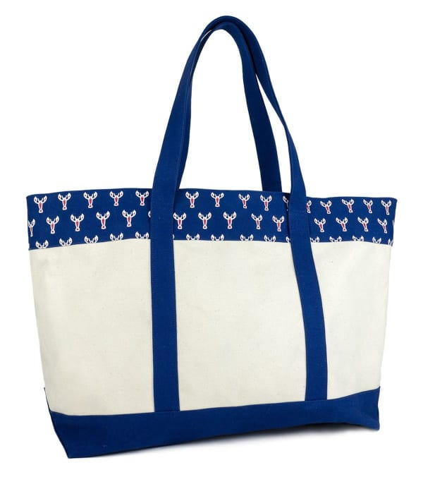 The Hamptons Printed Large Canvas Tote