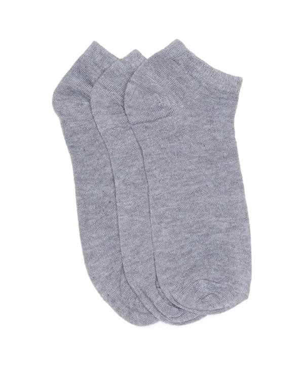 Three Pack No Show Active Sock - Grey - Front