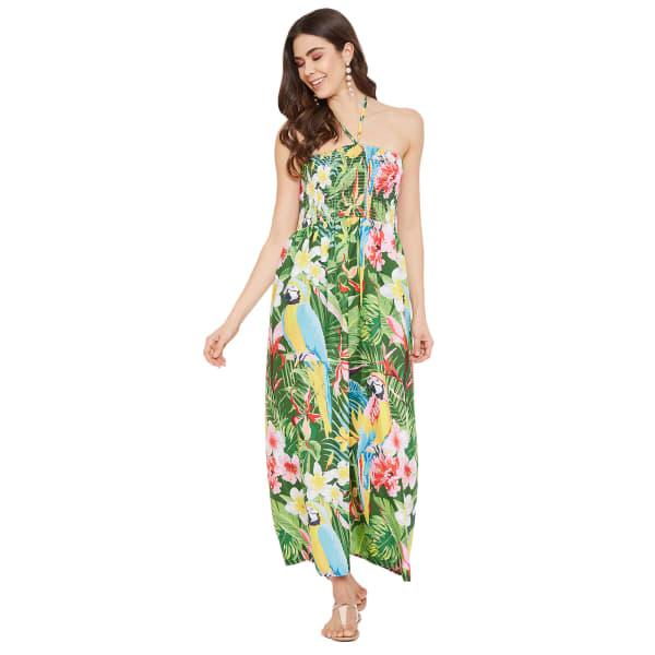 Trendy Polyester Flora Tubedress