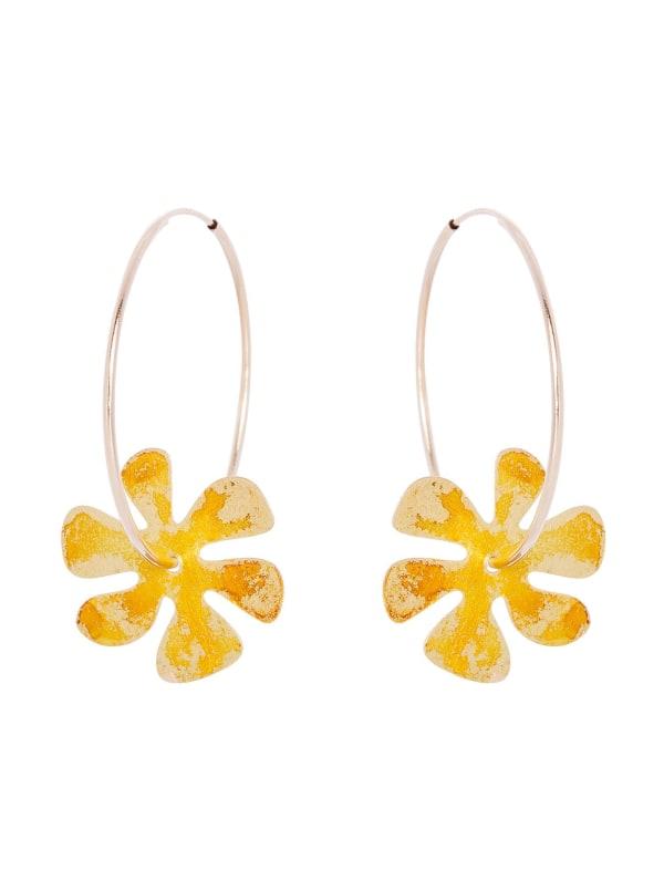 14K Gold Filled Flower Hoops