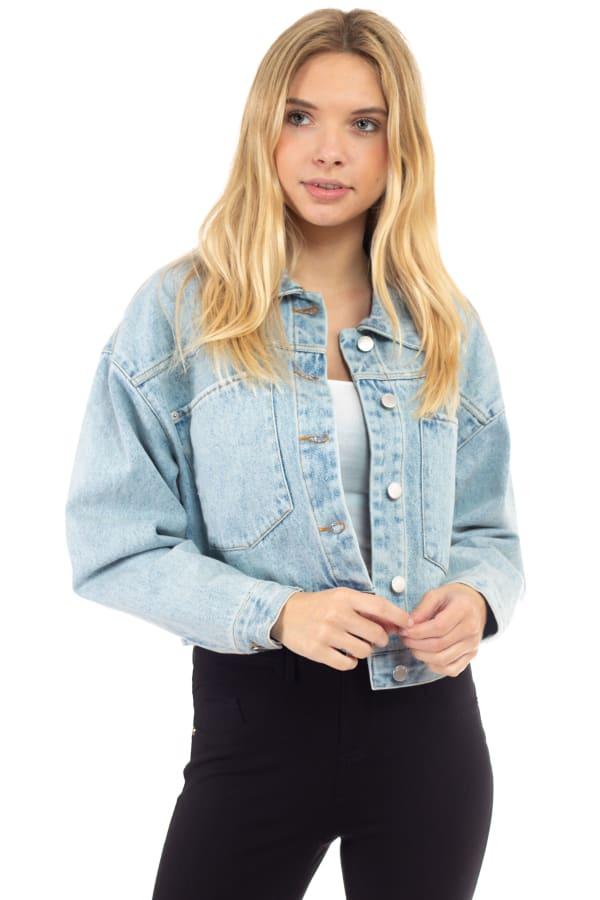 26 International Cropped Oversized Denim Jacket