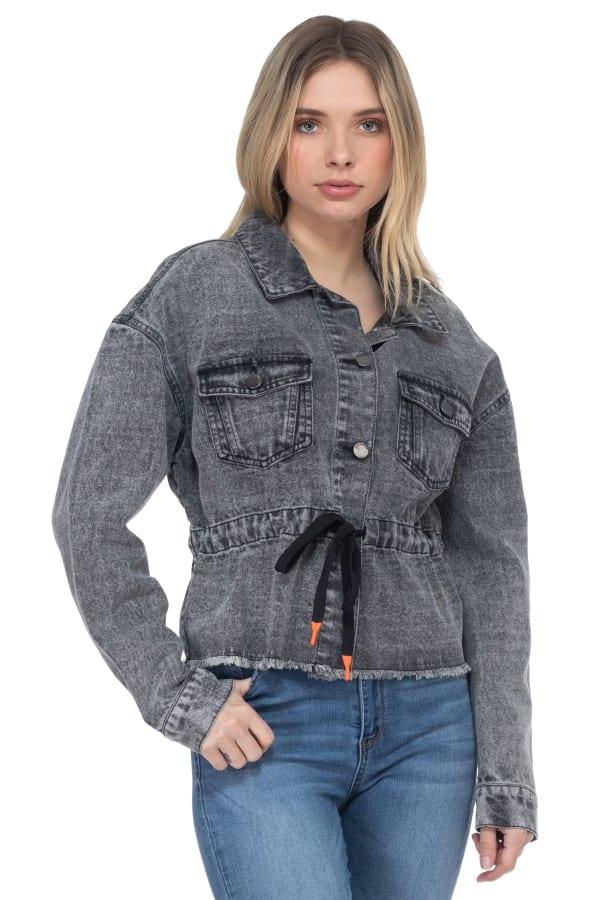 26 International Drawstring Waist Denim Anorak Jacket