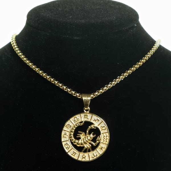 Dell Arte by Jean Claude Scorpio Zodiac Sign Pendants Necklace - Gold - Front