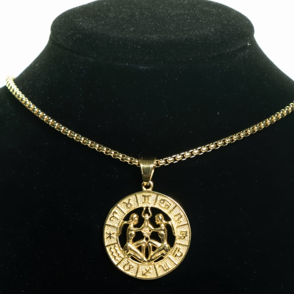 Dell Arte by Jean Claude Gemini Zodiac Sign Pendants Necklace