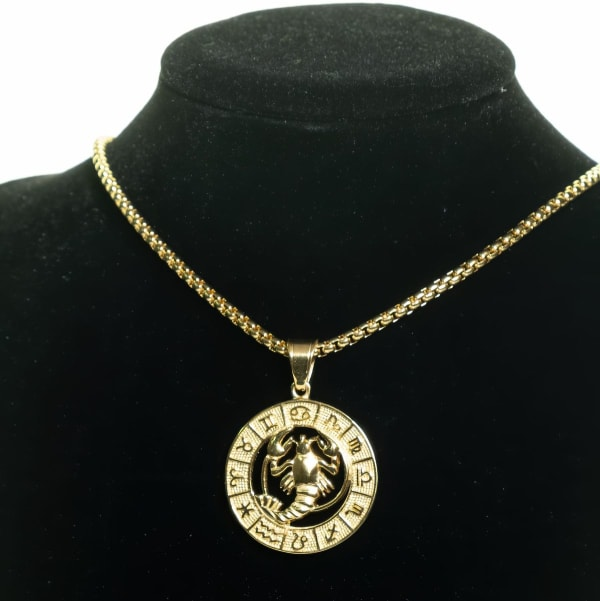 Dell Arte by Jean Claude Cancer Zodiac Sign Pendants Necklace