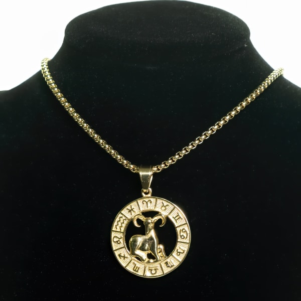 Dell Arte by Jean Claude Aries Zodiac Sign Pendants Necklace