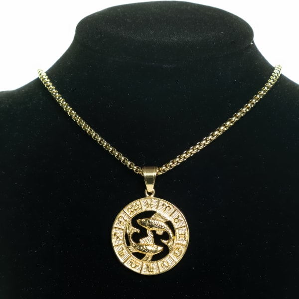 Dell Arte by Jean Claude Pisces Zodiac Sign Pendants Necklace