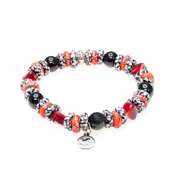 Dell Arte by Jean Claude Krobo Recycled Glass Beads Mix Bracelet - Multicolor - Front