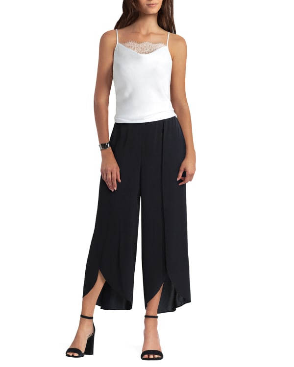 Gigi parker Mock Wrap Pants - Black - Front