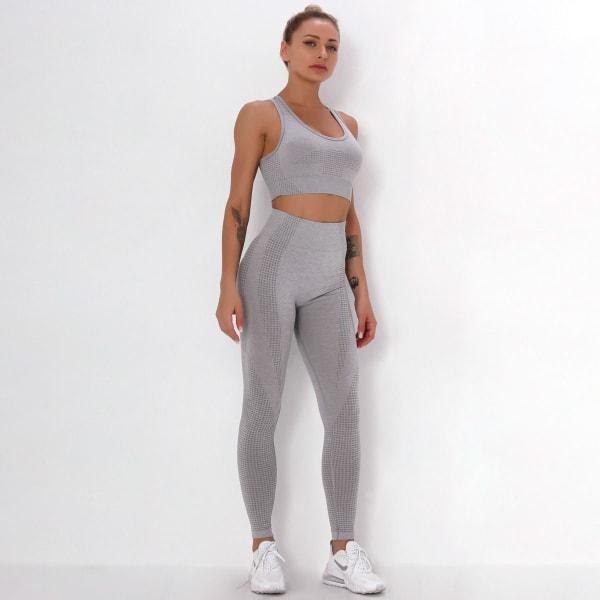 Sports Bra & Leggings - Light Grey - Front