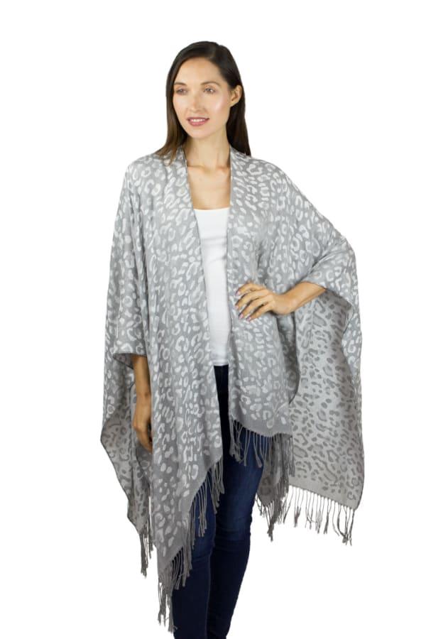 Leopard Metallic Kimono