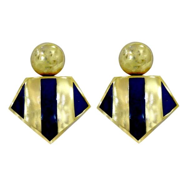 Brass Gold Plated Dangle Earrings