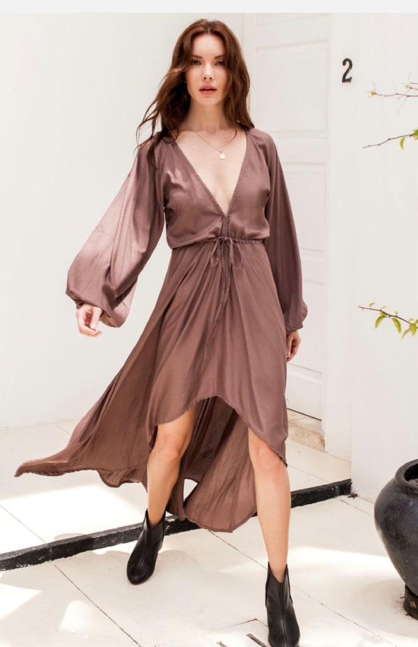 Linda V-Neck Dress - Plus