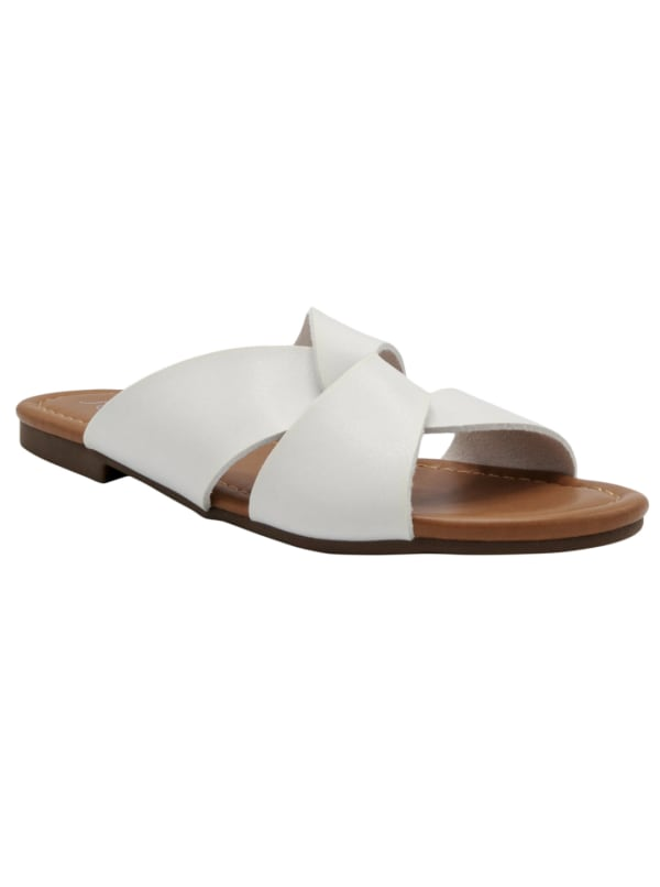 Knotted Olena Sandal - White - Front