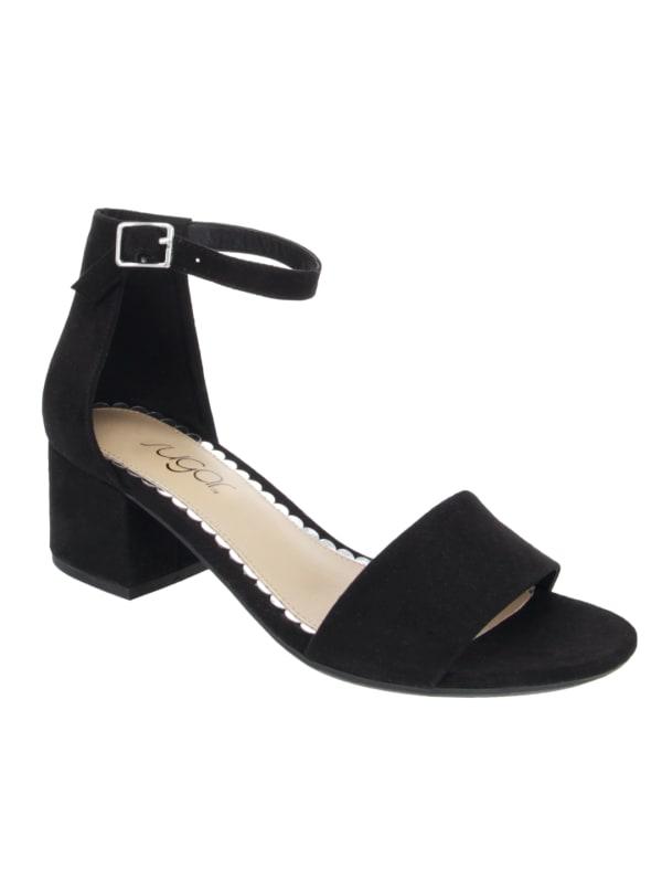 Noelle Low Dress Sandal - Black - Front