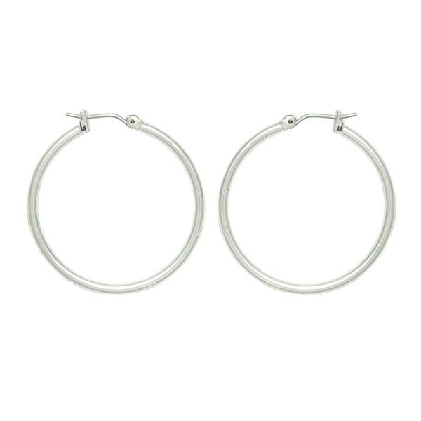 Museum Collection Hoop Earrings - Silver - Front