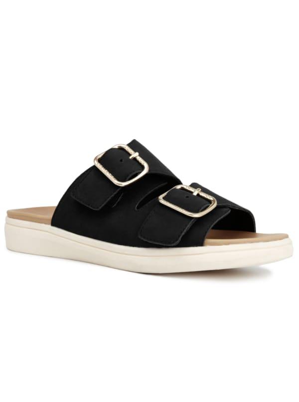 Lorraine Buckle Slip On Sandal