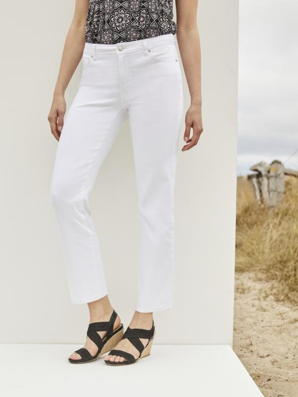 Westport Signature 5 Pocket Straight Leg Jean - Misses - Optic White - Front