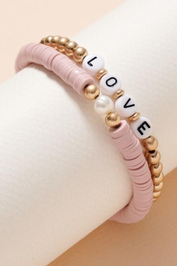 Inspirational Rubber Beaded Bracelet