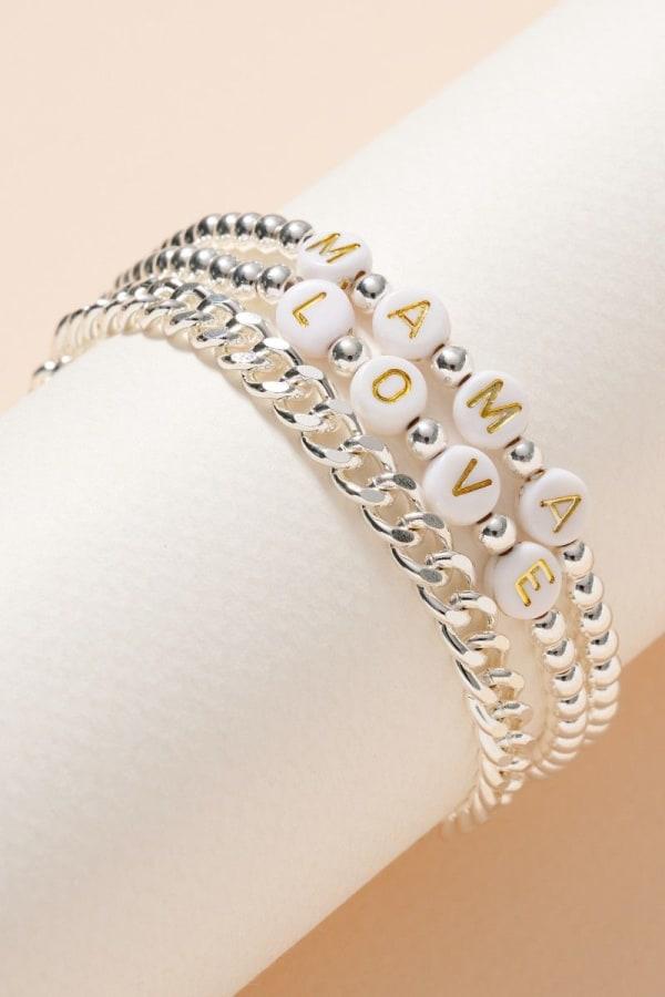 Inspirational Beaded Chain Linked Bracelet Set