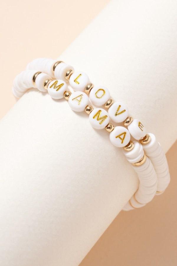 Inspirational Rubber Beaded Bracelet Set