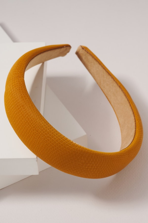 Crock Embossed Leather Head Band