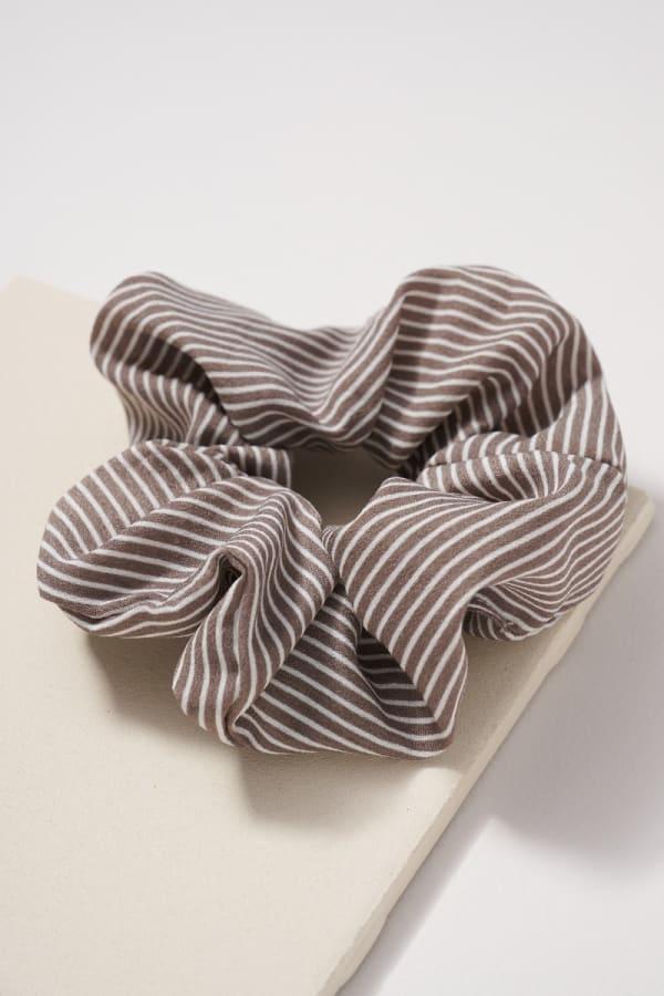 Striped Hair Scrunchies