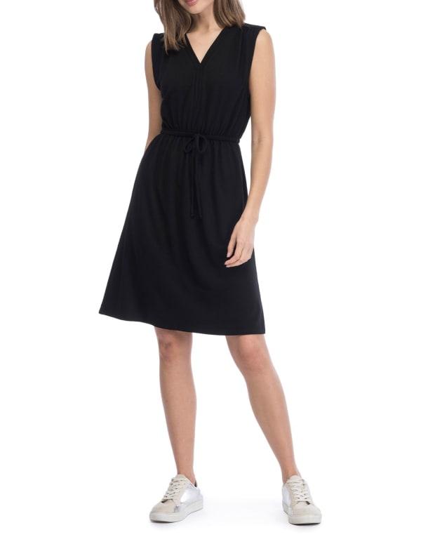 V-Neck Ultra Soft French Terry Dress