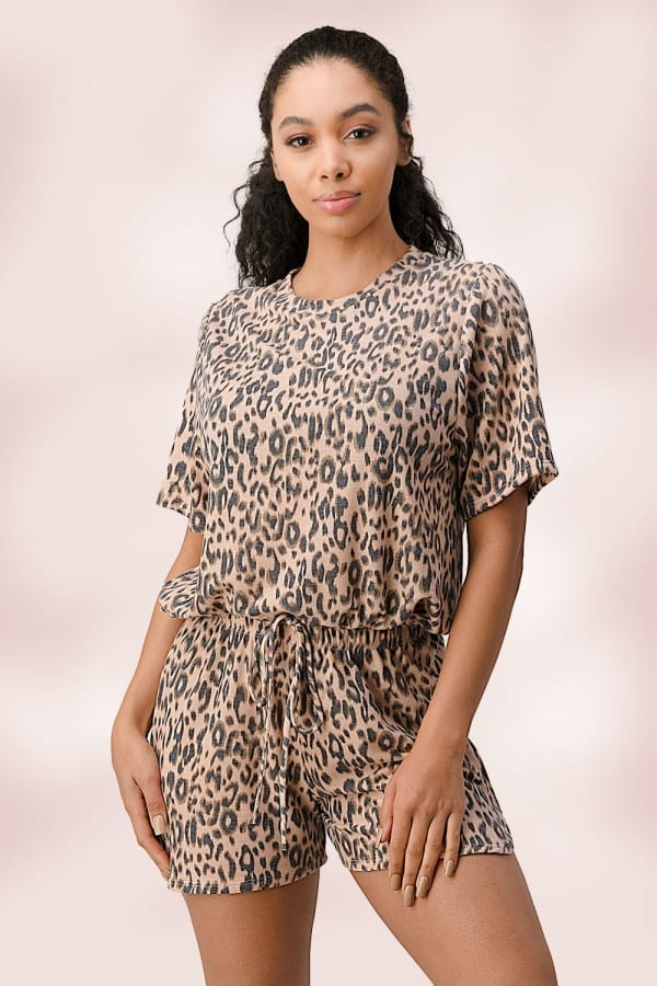 Leopard Lounge Wear Pajama Set