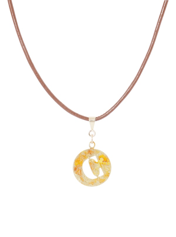 14K Gold Plated C Choker Charm Necklace