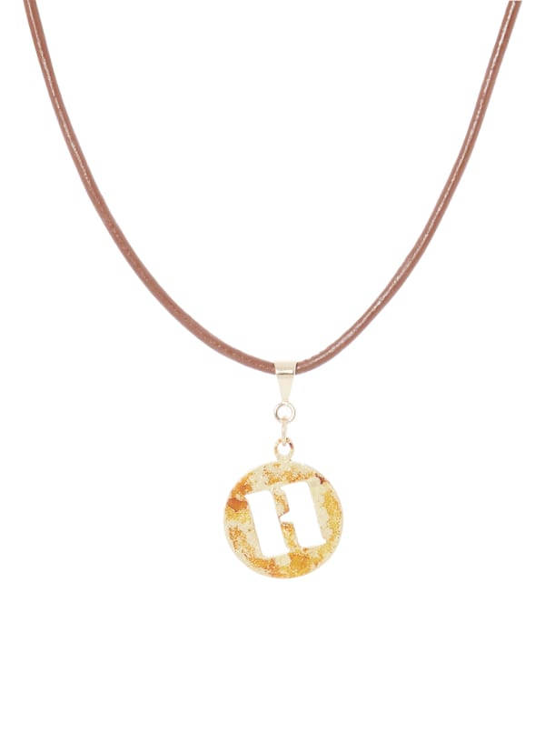 14K Gold Plated H Choker Charm Necklace