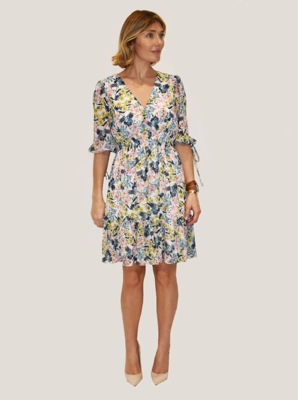 Taylor Floral Print with Smocked Waist Dress