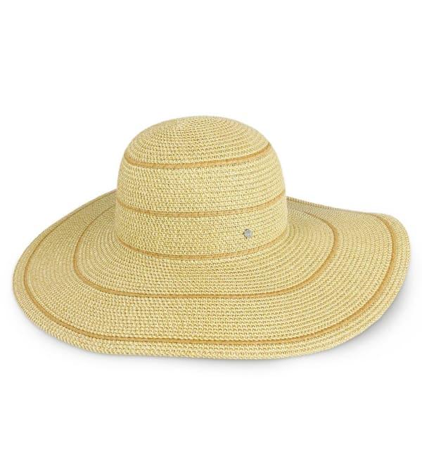Jones NY Striped Straw Floppy Hat