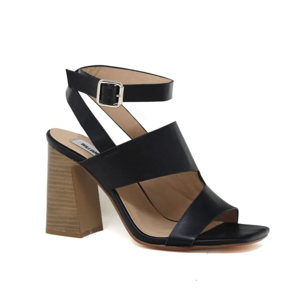 Strappy Cut Out Heeled Mule
