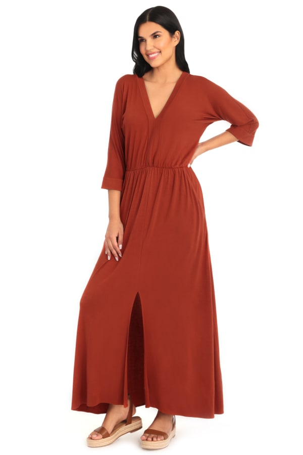 Sienna V-Neck Dolman Sleeve Kaftan Dress