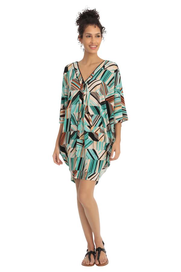Riley Printed V-Neck Kaftan Dress