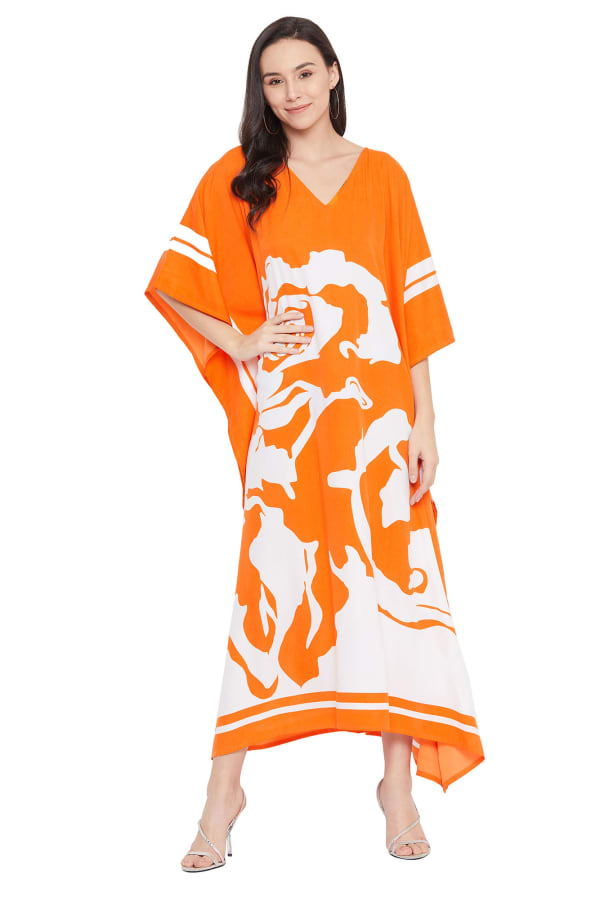 Handmade Maxi Kaftan Dress - Plus