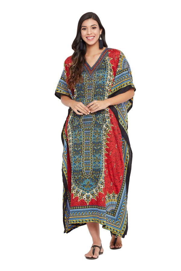 Kaftan Long Maxi Dress - Plus