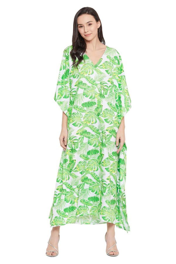 Green Maxi Kaftan Dress - Plus