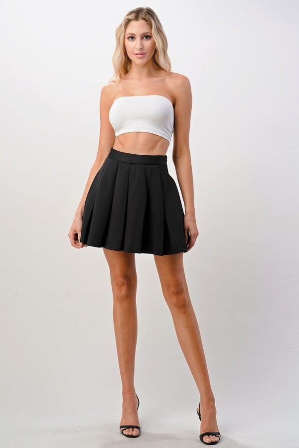 Kaii Pleated Mini Scuba Skirt