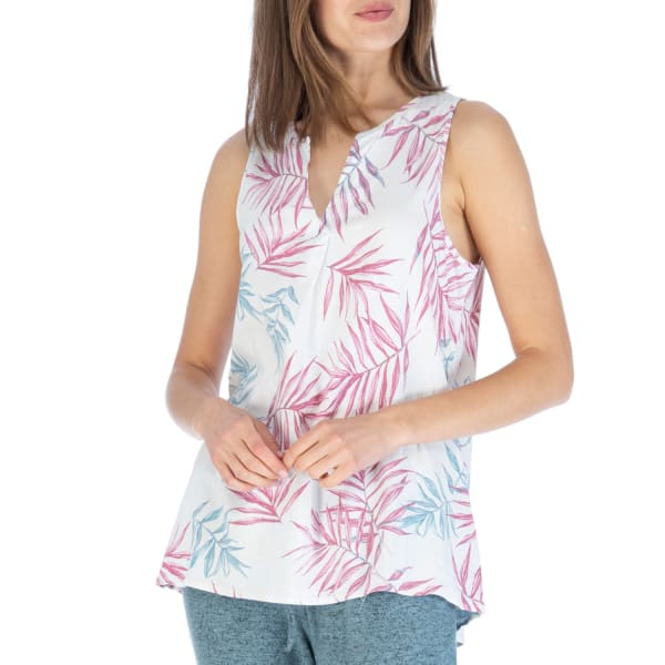 Rudy Pleat Back Blouse - Stacked Palm - Front