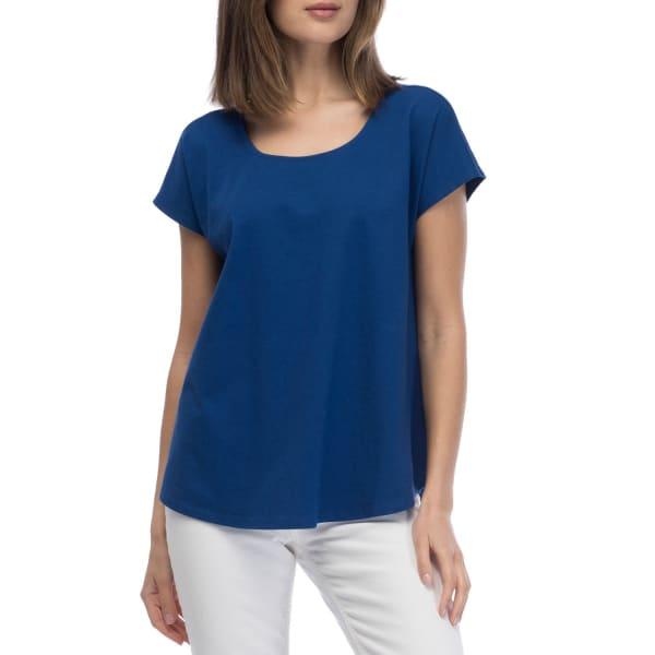 Cross Back Knit Tee - Blue Maze - Front
