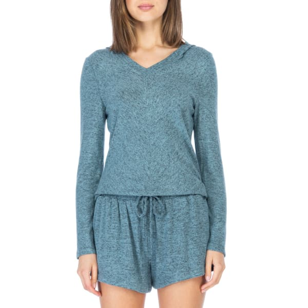 Brushed Rayon V-neck Hoodie